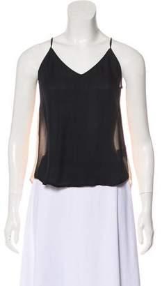 Mason Silk Colorblock Sleeveless Top