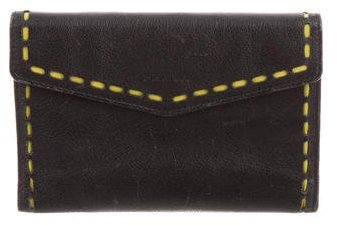 prada Prada Trifold Leather Wallet