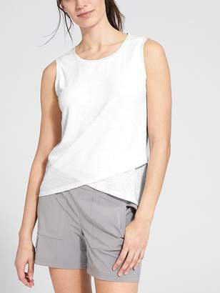 Athleta Linen Criss Cross Tank