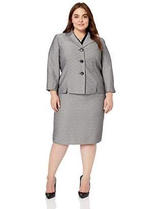d42af8c1d Le Suit Women's Plus Size 3 Button Wide Lapel Novelty Skirt Suit