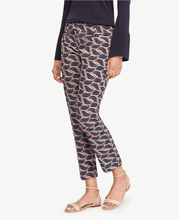 Ann Taylor The Tall Crop Pant in Leaf Swirl - Devin Fit