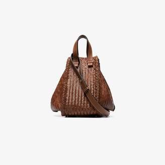 Loewe brown medium Hammock woven shoulder bag