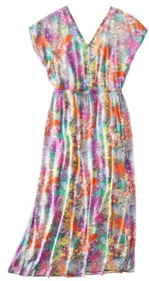 Mossimo Women's Plus-Size Short-Sleeve Maxi Dress - Assorted Prints