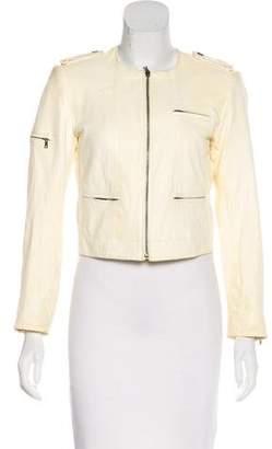 Alice + Olivia Zip-Up Leather Jacket