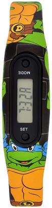 Asstd National Brand Ninja Turtle Boys Pedometer Tracker Strap Watch-Tmr4073jc