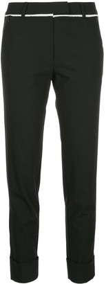 Taylor slim fit cropped trousers