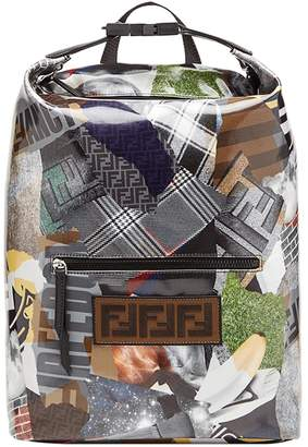 Fendi logo graphic print backpack