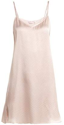 Derek Rose Brindisi Slip Dress - Womens - White Pink
