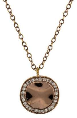 Ippolita Diamond Rosé Disc Pendant Necklace