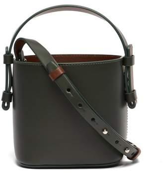 Nico Giani - Adenia Mini Leather Bi Colour Bucket Bag - Womens - Green Multi
