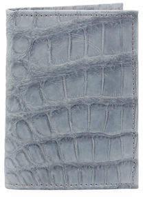 Neiman Marcus Alligator Flip Card Case