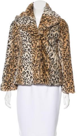 Alice + OliviaAlice + Olivia Leopard Print Faux Fur Coat