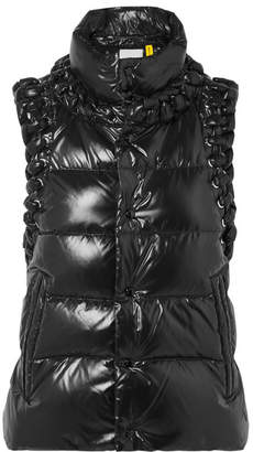 Noir Kei Ninomiya Moncler Genius - 6 Whipstitched Quilted Shell Down Gilet - Black