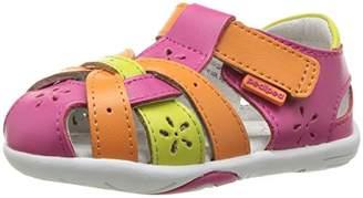 pediped Girls' Nikki Closed Toe Sandals,5 Child UK 22 EU