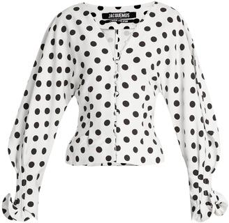 La Chemise Boutons polka-dot cady blouse