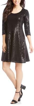 Karen Kane Sequin Embellished Sweater Dress