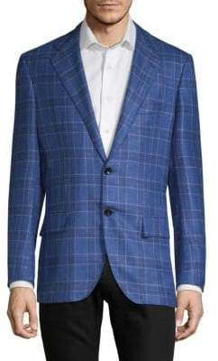 Kiton Standard-Fit Plaid Sport Jacket