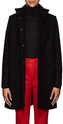 Lisa Perry Women's Circular-Seam Wool-Blend A-Line Coat - Black