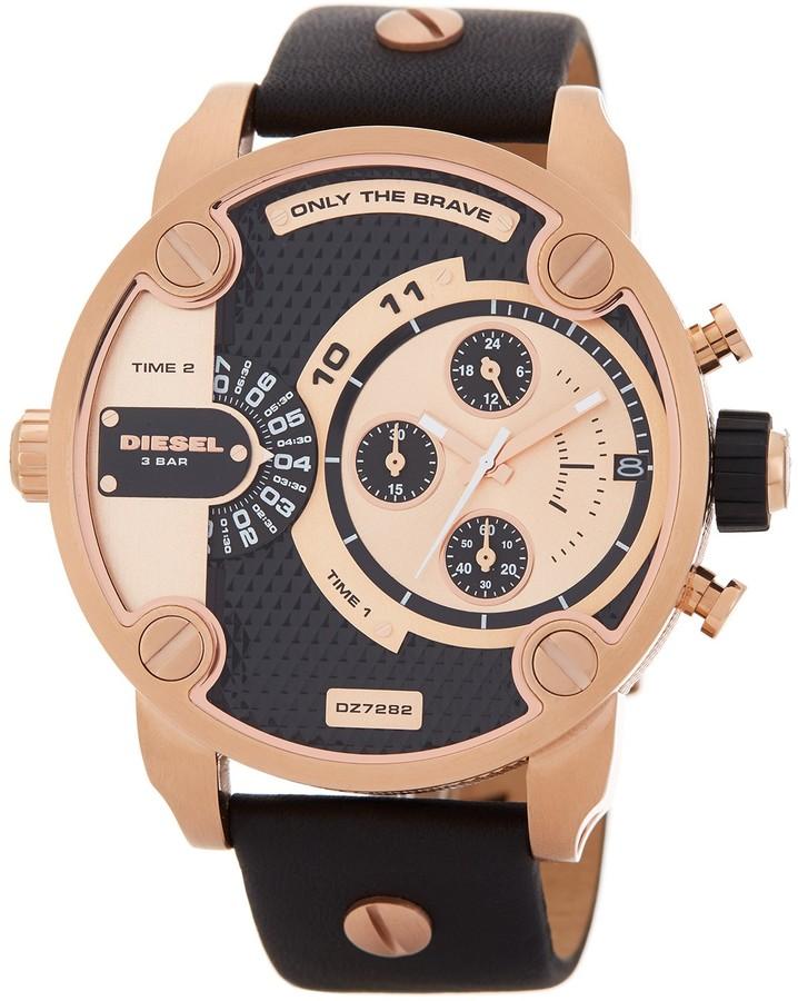 DieselDiesel Men's Little Daddy Leather Strap Watch