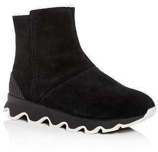 Sorel Women's Kinetic Nubuck Leather Platform Booties