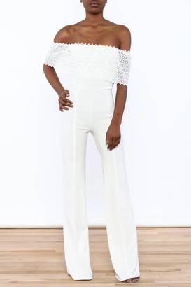Valentine White Goddess Jumpsuit $49.99 thestylecure.com