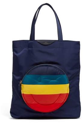 Anya Hindmarch Chubby Smiley Tote Bag - Womens - Navy Multi