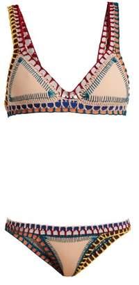 Kiini Mila Crochet Trimmed Triangle Bikini Set - Womens - Multi