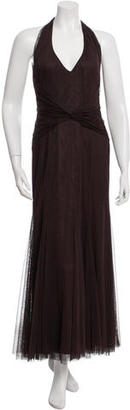 Vera Wang Mesh Halter Gown $180 thestylecure.com