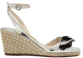 Sophia Webster Soleil Lucita Espadrille Wedge Sandals - Womens - Silver