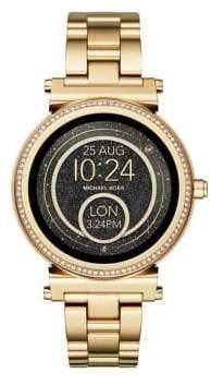 Michael Kors Sofie Touchscreen Goldtone BraceletSmartwatch