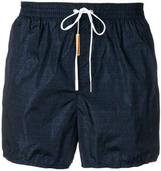 DSQUARED2 all over logo swim shorts