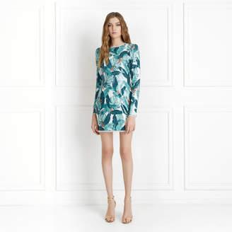 Rachel Zoe Amelia Palm Printed Sequin Mini Dress