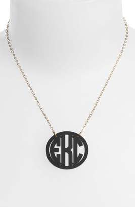 Moon and Lola Medium Oval Personalized Monogram Pendant Necklace