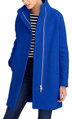 Women's J.crew Stadium Cloth Cocoon Coat $350 thestylecure.com