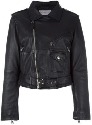 Calvin Klein Jeans classic biker jacket $727.34 thestylecure.com