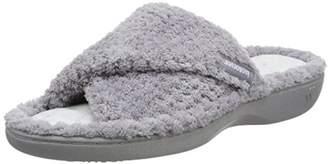 Isotoner Women's Ladies Popcorn Open Toe Slipper Back (Pale Grey), 38 EU