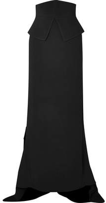 Antonio Berardi Asymmetric Crepe Maxi Skirt - Black