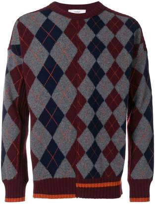 Pringle Argyle long-sleeve sweater