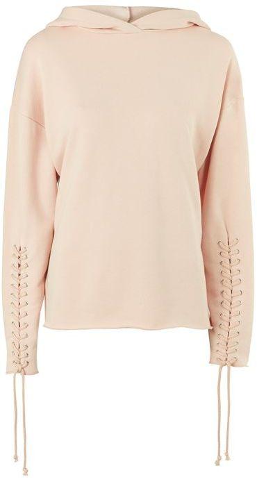 TopshopTopshop Lace up sleeve hoodie
