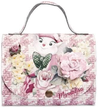 MonnaLisa Bianca & Houndstooth Printed Felt Bag