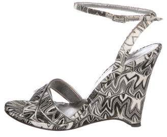 Missoni Patterned Ankle-Strap Sandals
