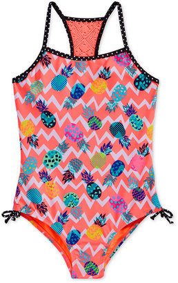 Breaking Waves 1-Pc. Chevron Pineapple-Print Swimsuit, Little Girls (2-6X) $34 thestylecure.com