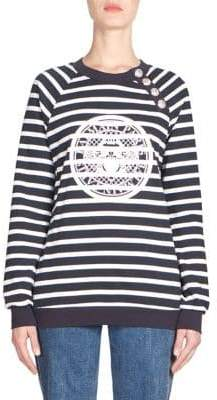 Balmain Striped Logo Sweater