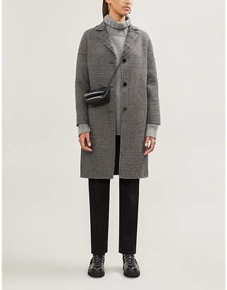 Claudie Pierlot Galva check-print wool-blend coat