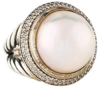 David Yurman Pearl & Diamond Cerise Ring