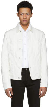 Acne Studios Bla Konst White Pass Denim Jacket