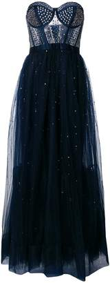 Temperley London Cannes corset embellished tulle dress