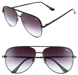 Women's Quay Australia X Desi Perkins 'High Key' 62Mm Aviator Sunglasses - Black Fade To Clear $65 thestylecure.com