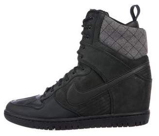 Nike Leather High-Top Sneakers