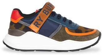 Burberry color block logo sneakers